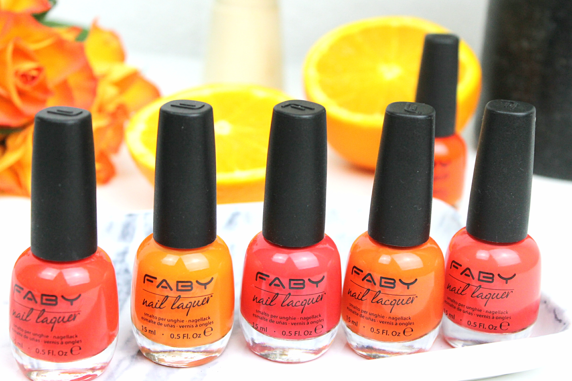 orange 70s nails with Faby | floating bohemian