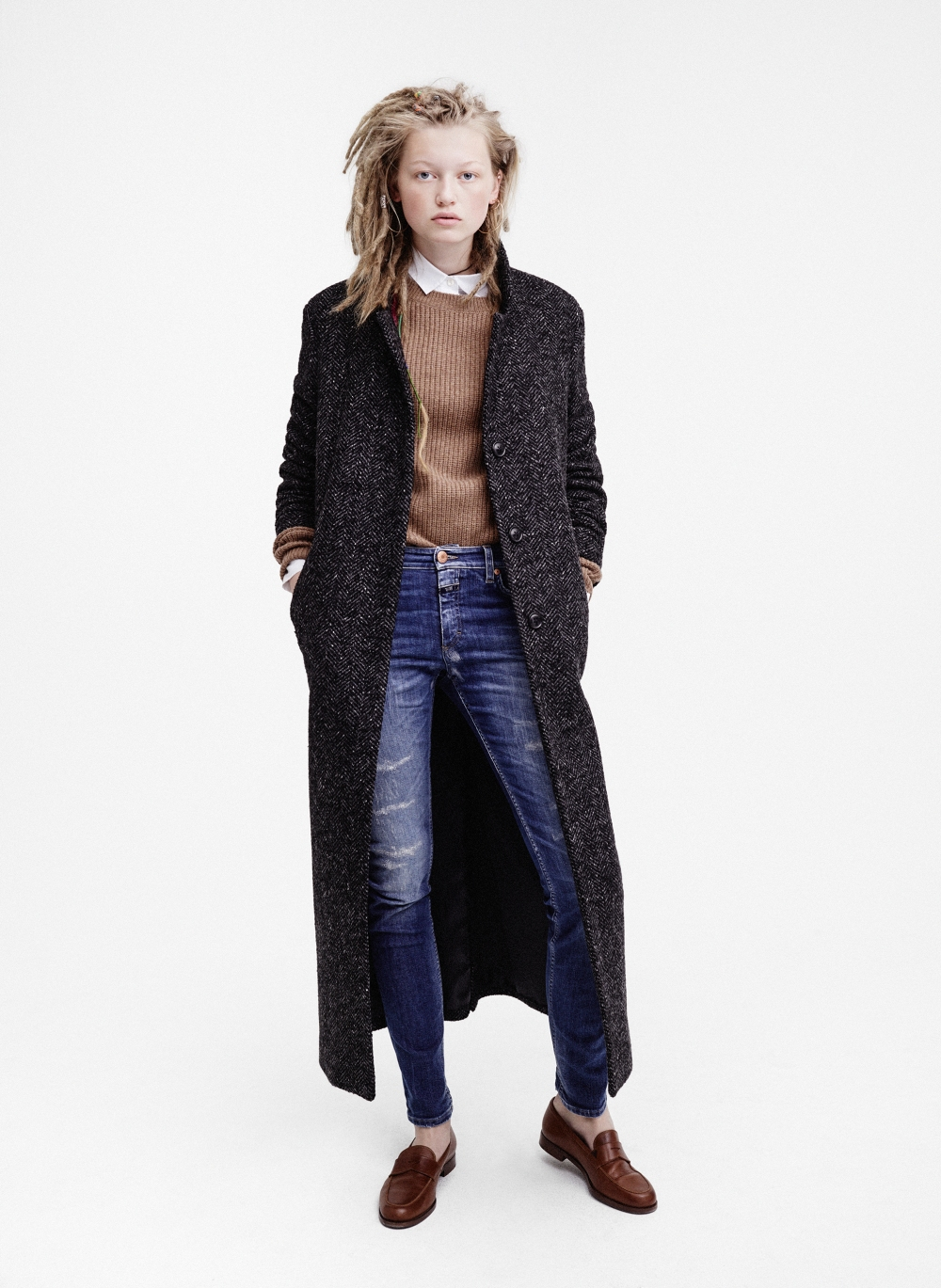 Pauline GÅrtler from the Closed Network - in the Bori 85 coat